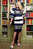 Костюм кофта и юбка, из эксклюзивной аппликацией из итальянской экокожи, 42-52 размер
