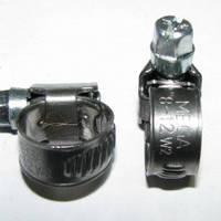 Хомут червячный  из нержавеющей стали, ширина 9 мм. W2