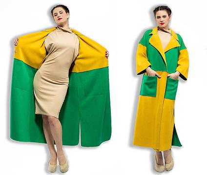 Стильное женское длинное пальто-кардиган 5-841