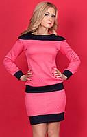 Женский костюм-двойка розового цвета с длинным рукавом. Модель 638 SL.