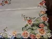 Скатерть атласная с вышивкой 180*140 на кухонный стол