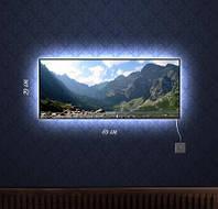 Картина с подсветкой Путешествие в горы 29x69