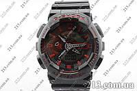Спортивные часы с водозащитой Casio G-Shock Ga-110 Black-Red черные