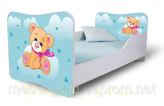 Ліжко 180х80 Мишко блакитний Nobiko