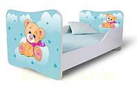 Кровать 180х80 Мишутка голубой Nobiko