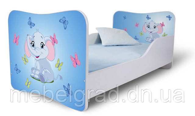 Ліжко 180х80 Слоник блакитний Nobiko