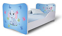 Кровать 180х80 Слоник голубой Nobiko