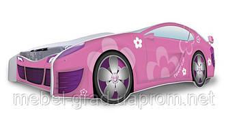 Кровать-машинка розовая Nobiko