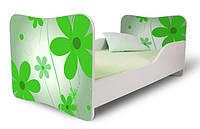Кровать 180х80 цветы зеленые Nobiko