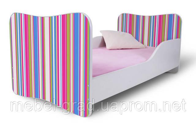 Ліжко 180х80 Смужки рожеві Nobiko