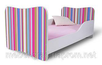 Кровать 180х80 Полоски розовые Nobiko