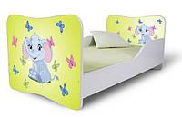 Кровать 180х80 Слоник зеленый Nobiko