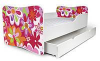 Кровать 180х80 цветы Nobiko