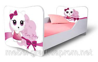 Кровать 180х80 Кошечка розовая Nobiko