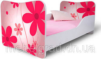 Кровать 180х80 цветы розовые Nobiko