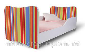 Кровать 180х80 Полоски оранжевые Nobiko