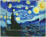 """Схема для вышивки бисером на подрамнике (холст) """"Пейзаж. Винсент Ван Гог."""", фото 2"""