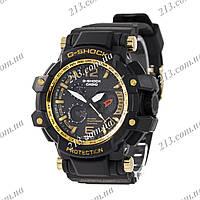 Спортивные часы Casio G-Shock Twin Sensor Black-Gold