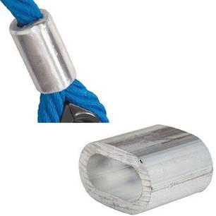 Гильза алюминиевая овальная обжимная, на канат армир. Ø16мм, фото 2