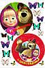 Печать съедобного фото - Ø14,5 - Маша и Медведь №5 - Вафельная бумага