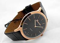 Часы мужские Guardo Classic,  Made in Italy, цвет золото, черный ремешок, черный циферблат