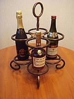 Кованая подставка под бутылку модель №4