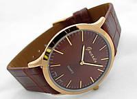Часы мужские Guardo Classic,  Made in Italy, цвет золото, коричневый ремешок, коричневый циферблат