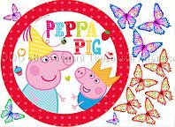 Друк їстівного фото - Ø21 - Свинка Пеппа №3 - Вафельна папір