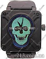 Часы Bell & Ross AIRBORNE SKULL & CROSSBONES PVD BLACK LIMITED EDITION череп (ПОД ЗАКАЗ)