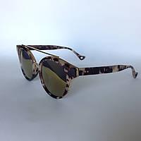 Женские солнцезащитные очки Kaizi 1815 с 52 бежево- коричневые