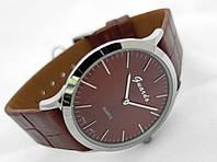 Часы мужские Guardo Classic,  Made in Italy, цвет серебро, коричневый ремешок, коричневый циферблат