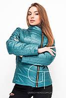 Женская куртка Letta, зеленая, демисезонная, короткая