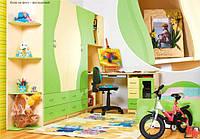 Детская комната Эколь ЛАК БМФ фисташка - крем (без кровати)