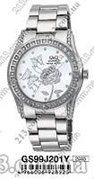 Женские японские часы на браслете Часы Q&Q GS99J201Y