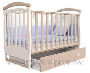 Ліжечко для новонароджених Соня ЛД 6 з маятником і ящиком Верес капучіно