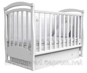 Ліжечко для новонароджених Соня ЛД 6 з маятником і ящиком Верес білий