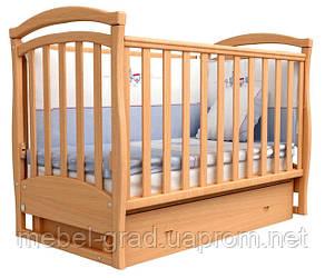 Ліжечко для новонароджених Соня ЛД 6 з маятником і ящиком Верес бук