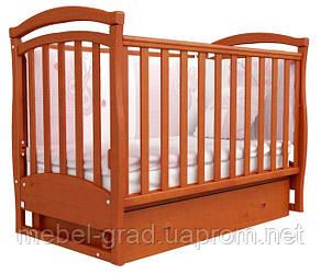 Ліжечко для новонароджених Соня ЛД 6 з маятником і ящиком Верес вільха