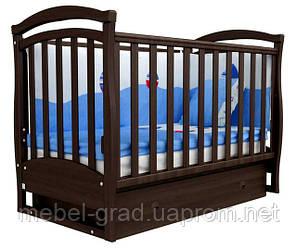 Ліжечко для новонароджених Соня ЛД 6 з маятником і ящиком Верес горіх