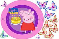 Друк їстівного фото - Ø21 - Свинка Пеппа №4 - Вафельна папір