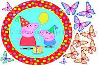 Печать съедобного фото - Ø21 - Свинка Пеппа №5 - Вафельная бумага
