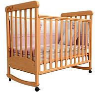 Кроватка для новорожденных Соня ЛД 12 с маятником Верес бук