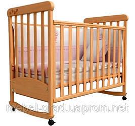 Ліжечко для новонароджених Соня ЛД 12 з маятником Верес бук