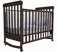 Кроватка для новорожденных Соня ЛД 12 с маятником Верес орех
