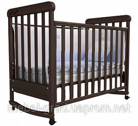 Ліжечко для новонароджених Соня ЛД 12 з маятником Верес горіх