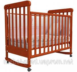 Ліжечко для новонароджених Соня ЛД 12 з маятником Верес вільха