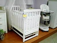 Кроватка для новорожденных Соня ЛД 12 с маятником Верес белый