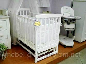 Ліжечко для новонароджених Соня ЛД 12 з маятником Верес білий