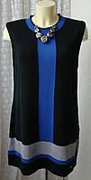 Платье туника женское демисезонное трикотаж хлопок акрил бренд Anna Field р.48 5902, фото 1