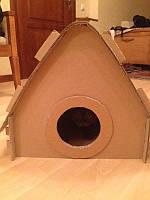 Картонный домик-раскраска для домашних животных